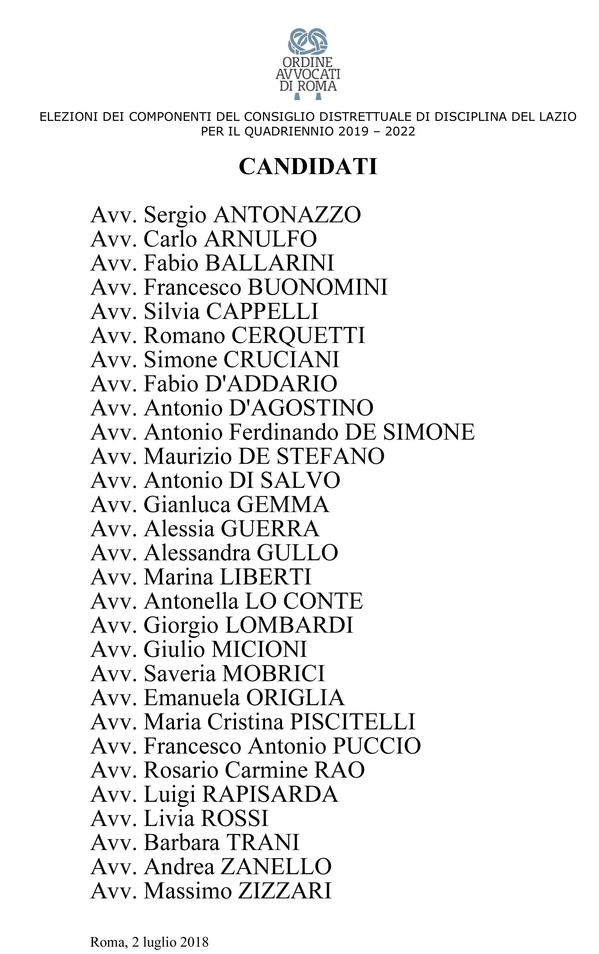 ordine avvocati roma