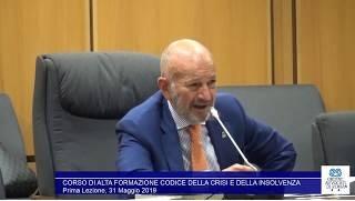 Miniatura del video: CORSO DI ALTA FORMAZIONE #CODICE DELLA #CRISI E DELLA #INSOLVENZA - PRIMA LEZIONE (Roma, 31.05.2019)