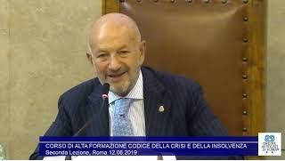 Miniatura del video: CORSO DI ALTA FORMAZIONE #CODICE DELLA #CRISI E DELLA #INSOLVENZA - SECONDA LEZIONE (Roma, 31.05.2019)