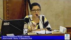 Miniatura del video: CORSO DI MEDIAZIONE PENALE E MINORILE - SECONDA LEZIONE (Roma, 11.09.2019)