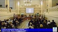 Miniatura del video: CORSO DI MEDIAZIONE PENALE E MINORILE - TERZA LEZIONE (Roma, 18.09.2019)