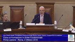 Miniatura del video: CORSO DI FORMAZIONE IN DIRITTO CONDOMINIALE - PRIMA LEZIONE (Roma, 02.10.2019)