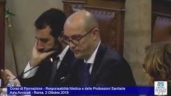 Miniatura del video: CORSO DI FORMAZIONE RESPOMSABILITà MEDICA E DELLE PROFESSIONI SANITARIE - PRIMA LEZIONE (Roma, 2.10.2019)