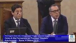 Miniatura del video: CORSO DI ALTA FORMAZIONE SUL PROCESSO TRIBUTARIO - PRIMA LEZIONE (Roma, 4.10.2019)