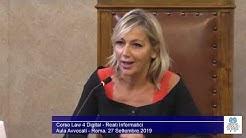 Miniatura del video: LAW 4 DIGITAL - QUARTA LEZIONE (Roma, 27.09.2019)