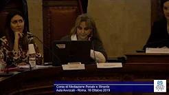 Miniatura del video: CORSO DI MEDIAZIONE PENALE E MINORILE - SETTIMA LEZIONE (Roma, 21.10.2019)