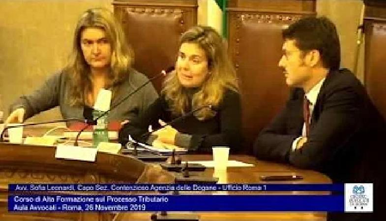 Miniatura del video: CORSO DI ALTA FORMAZIONE SUL PROCESSO TRIBUTARIO - QUARTA LEZIONE (Roma, 26.11.2019)