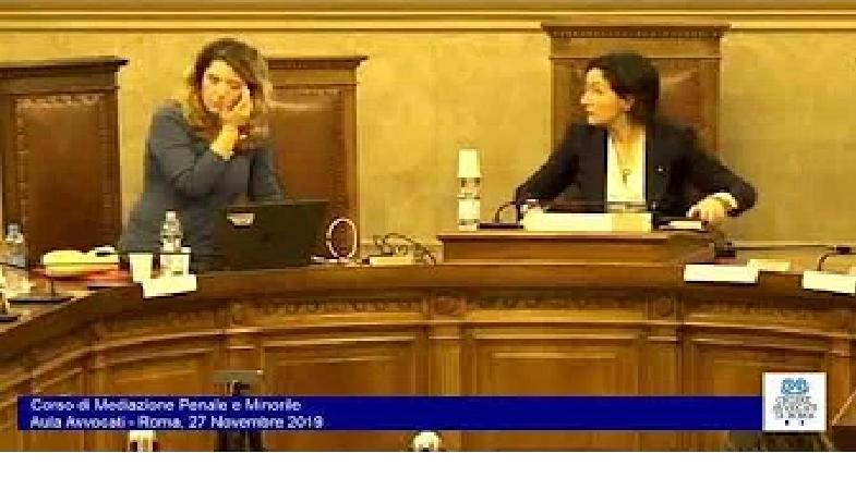 Miniatura del video: CORSO DI MEDIAZIONE PENALE E MINORILE - TREDICESIMA LEZIONE (Roma, 27.11.2019)