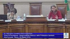 Miniatura del video: CORSO DI FORMAZIONE RESPOMSABILITà MEDICA E DELLE PROFESSIONI SANITARIE - TERZA LEZIONE (Roma, 30.10.2019)
