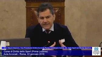 Miniatura del video: CORSO DI FORMAZIONE IN DIRITTO SPORTIVO - PRIMA LEZIONE (Roma, 22.01.2020)