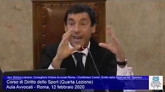 Miniatura del video: CORSO DI FORMAZIONE IN DIRITTO SPORTIVO - QUARTA LEZIONE (Roma, 12.02.2020)
